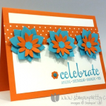 A Stampin' Up! Flower Fair Trio to Celebrate!