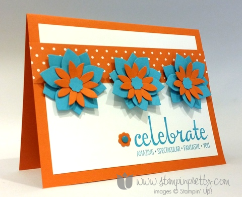 Stampin up stamping pretty demonstrator blog fabulous four stamp set card ideas flower fair framelits dies