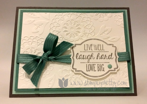 Stampin up stamping pretty stamp oh my goodies demonstrator blog card idea mary fish catalog 3