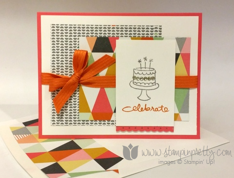 Stampin up stamp it pretty endless birthday wishes set demonstrator blog confetti celebration