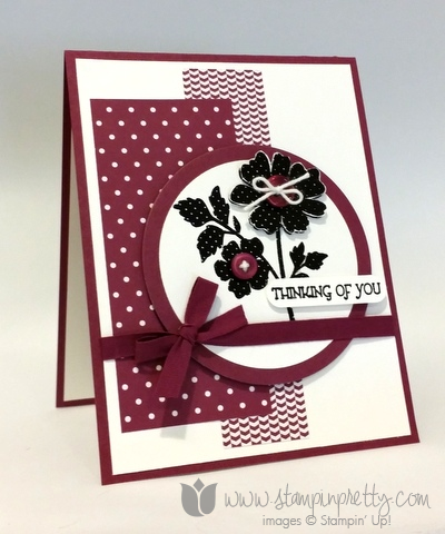Stampin up stamping pretty sympathy thinking of you card idea demonstrator blogs gifts of kindness stamp set
