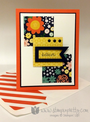Stampin up stamping pretty stamps it demonstrator card ideas free catalog envelope liner framelits die big shot
