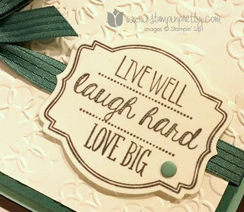 Stampin up stamping pretty stamp oh my goodies demonstrator blog card idea mary fish catalog