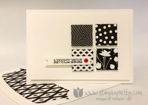 Stampin up stamping pretty demonstrator blog and many more stamp set back to black simple card ideas