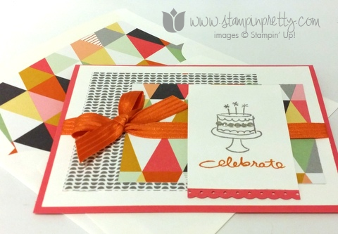 Stampin up stamp it pretty endless birthday wishes set demonstrator blog confetti celebration cards