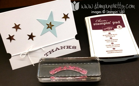 Stampin up stamping up demonstrator blog papers pumpkin thank for you card idea july 2014