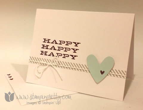 Stampin up stamping up demonstrator blog paper pumpkin thank for you card idea july 2014