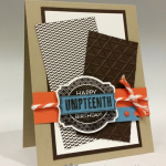 Decorative Goodies for a Masculine Birthday Card