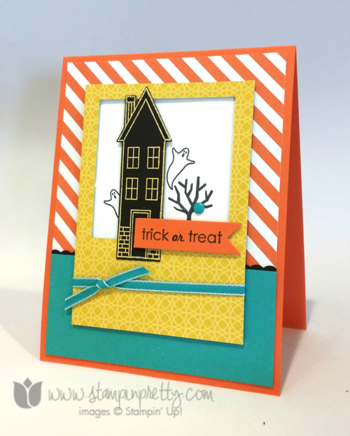 Stampin up stamping pretty demonstrator blog holiday home homemade framelits dies halloween idea