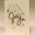"More Stampin' Up! Holiday Sneak Peeks!  Layered ""Joy!"""