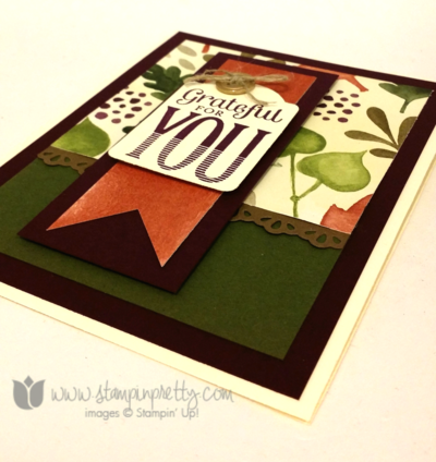 Stampin up stamping pretty demonstrator blog merry everything stamp note cards punch fall autumn holiday card ideas