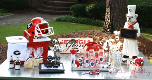 Diy tailgate party, stampin up tailgate party, UGA tailgate party ideas, uga party ideas01.IMG_0103