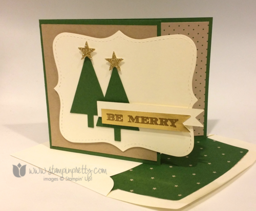 Stampin up stampin' up! holiday invitation card tree punch