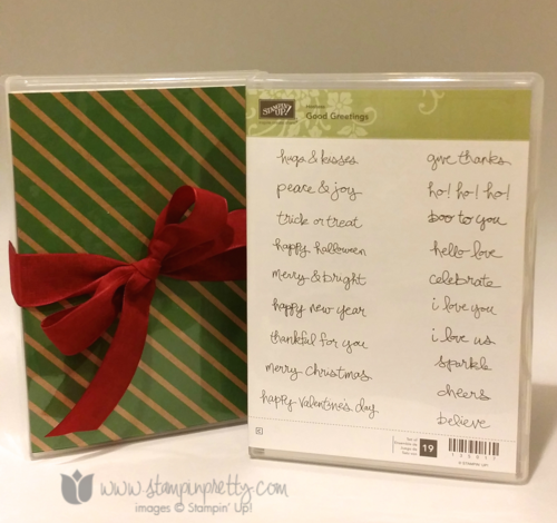 Stampin up stampin' up! mary fish blogs candy good greetings