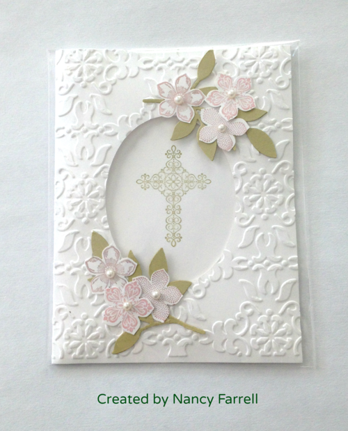 Stampin up communion religious frame
