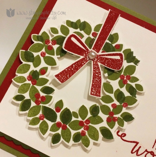 Stampin up stampin' up! wondrous wreath wonderful framelit die mary fish stampin pretty