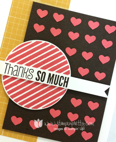 Stampin up stampin' up! mary fish #hello thank you card heart punch