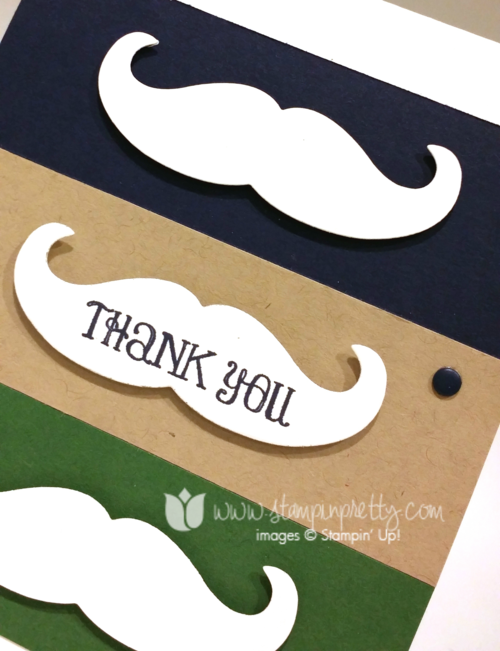 Stampin up stampinup mary fish pretty mustache framelit die