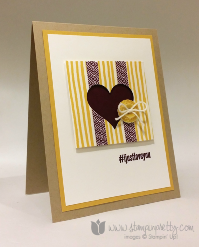 Stampin up stampin' up! washi tape #hello card ppa218