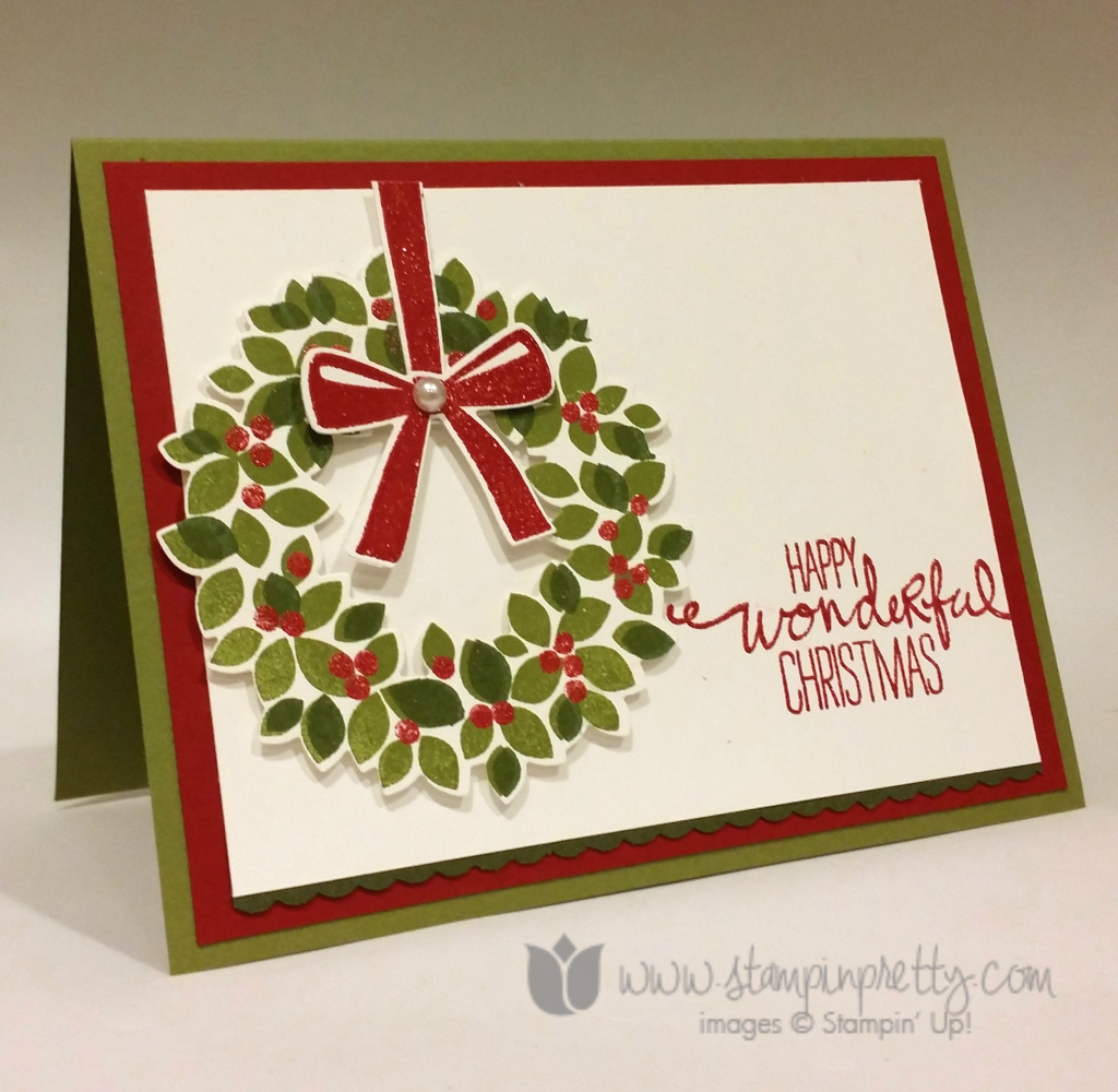 A wondrous wreath for ppa220 stampin 39 pretty for Mary fish stampin up