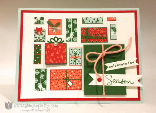Stampin up stampin' up! mary fish mojo monday holiday card