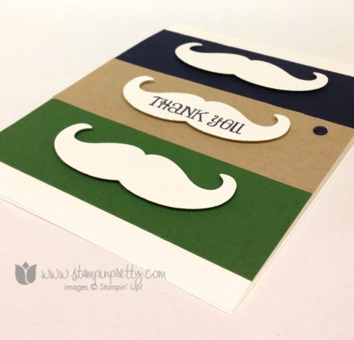 Stampin up stampinup mary fish pretty mustache framelits die thank you