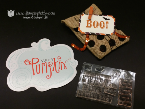 Stampin up, stampin' up!, stampinup, mary fish, bootiful bag halloween treat paper pumpkin