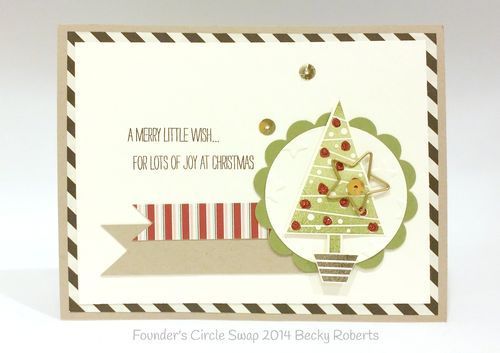 Stampin up stampin' up! stamping up stampinup mary fish festival of trees star