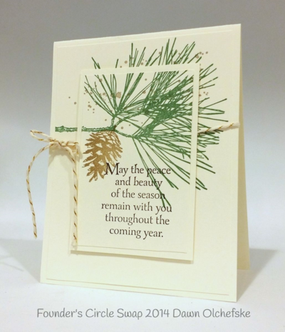 Stampin up stampin' up! stamping stamping pretty mary fish ornamental pine card