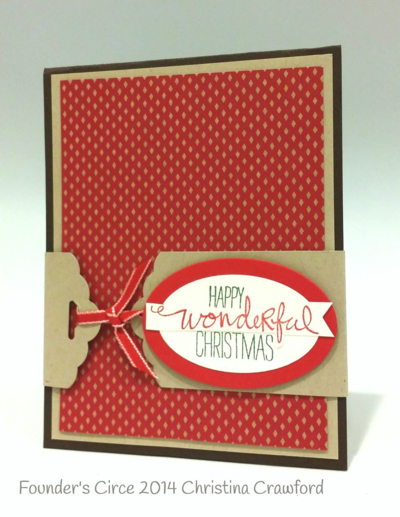 Stampin up stampin' up! stamping stamping pretty mary fish wondrous wreath scallop tag punch