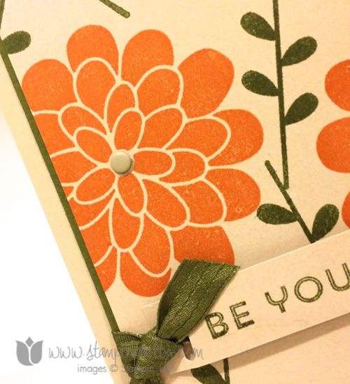 Stampin up stampin' up! stampinup stamping pretty mary fish flower patch card idea