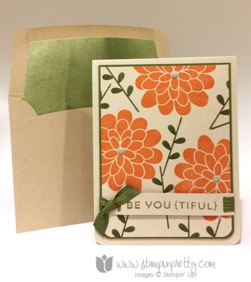 Stampin up stampin' up! stampinup stamping pretty mary fish flower patch card