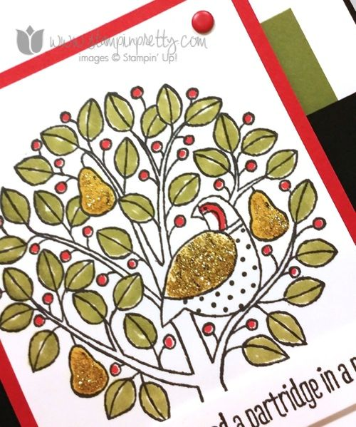 Stampin up stampin' up! stampinup stamping pretty mary fish partridge & pear
