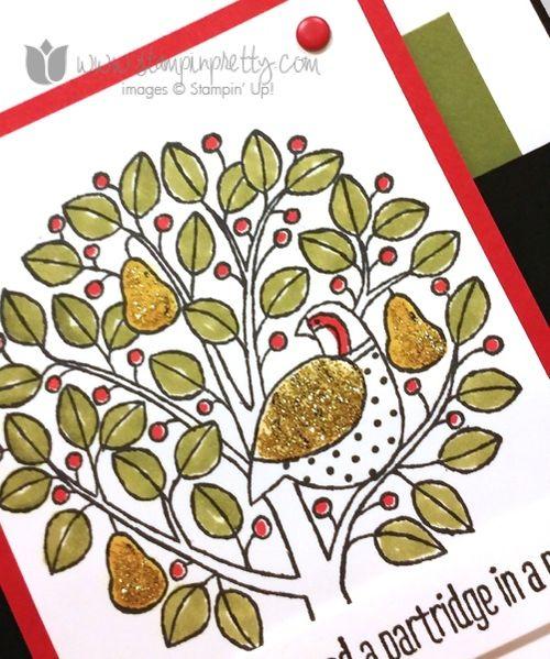 Stampin up stampin' up! stampinup stamping pretty mary fish partridge & pear