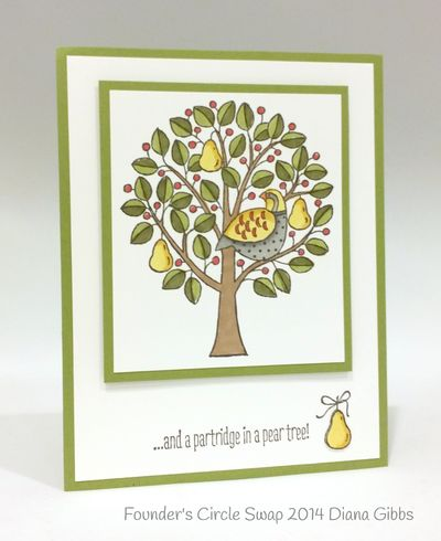Stampin up stampin' up! stamping stamping pretty mary fish partridge & pears