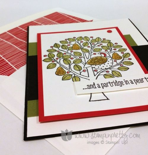 Stampin up stampin' up! stampinup stamping pretty mary fish partridge & pears