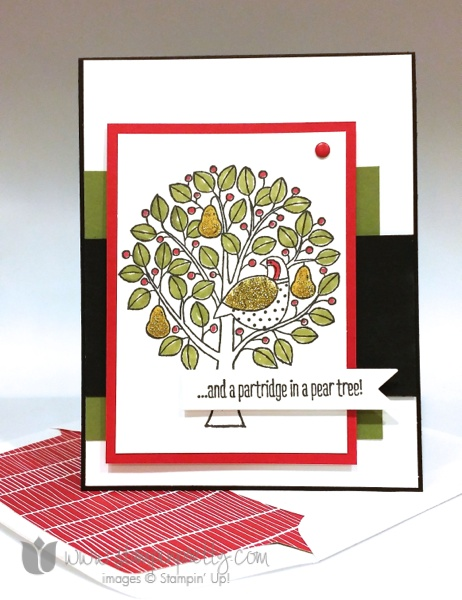 Stampin up stampin' up! stampinup stamping pretty mary fish partridge & pears 3