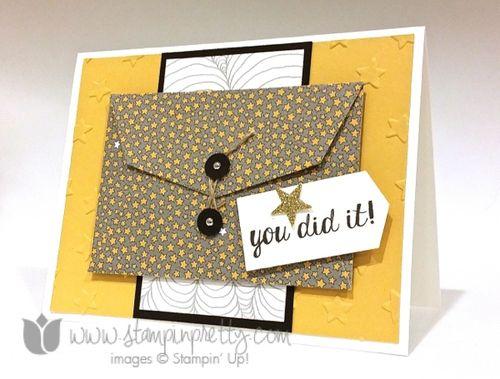 Stampin up stampin' up! stampinup stamping pretty gift card bravo
