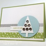 Simple Stampin' Up! Tree Punch Card