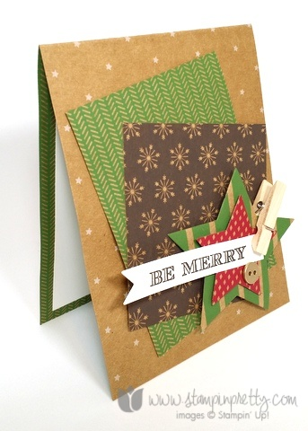 Stampin up stamping stampinup mary fish holiday invitation