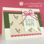 Floral & Feminine Stampin' Up! Birthday Card