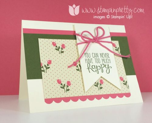 Mojo monday mary fish stampin up stamping pretty yippee skippee birthday card