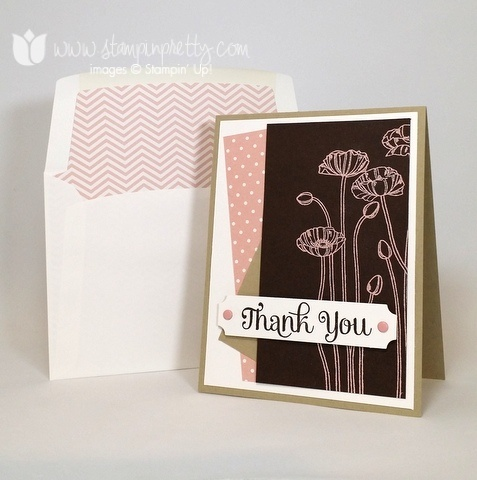 Stampin up stamping stampinup mary fish pretty pleasant poppies