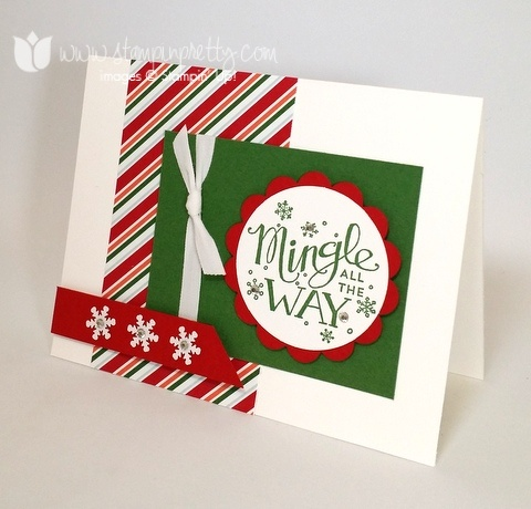 Stampinup mary fish pretty mingle all the way 3
