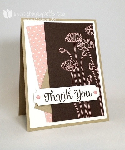 Stampin up stamping stampinup mary fish pretty pleasant poppies 1