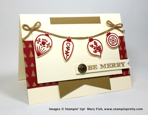 Stampin up stampinup stamping pretty mary fish cheerful christmas 1