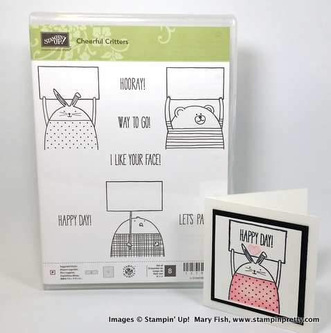 Stampin up stampin' up! stamping stampinup mary fish pretty cheerful critters 3