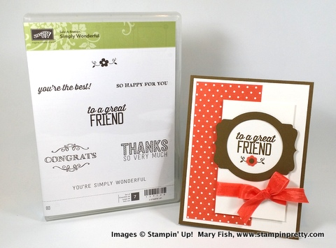 Stampin' up! stampinup stamping stampinup mary fish stampin pretty simply wonderful 6
