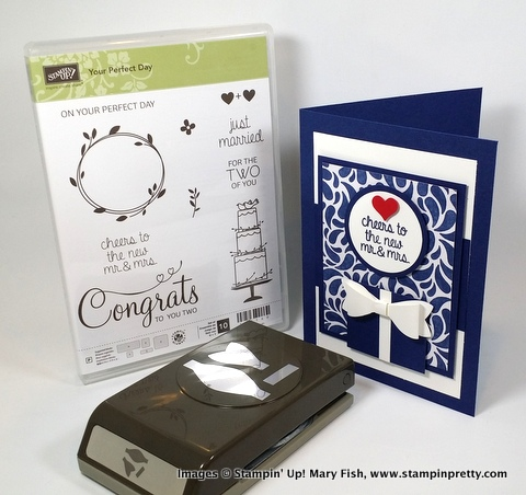 Stampin up stampin' up! stamping stampinup pretty mary fish bow builder punch