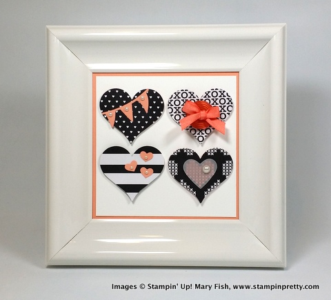 Stampin up stampin' up! stamping stampinup pretty mary fish heart frame